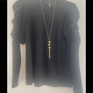 Costume Brass Tassel 3 Ball Long Pendant Necklace